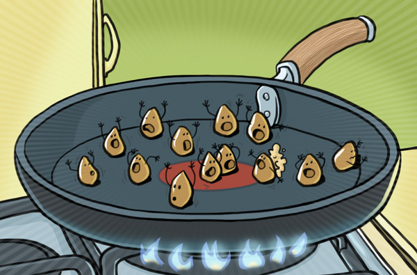 illustration of a kernel panic